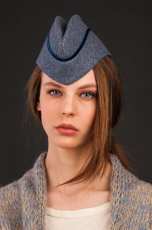Шляпы ручной работы. Ярмарка Мастеров - ручная работа. Купить пилотка простая с бархатной тесьмой. Handmade. Оливковый, шляпки, шляпы