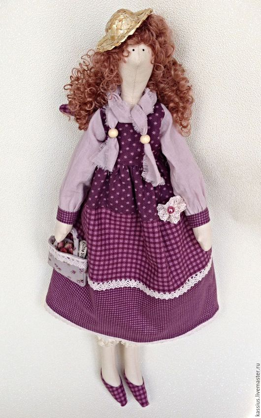 Куклы Тильды ручной работы. Ярмарка Мастеров - ручная работа. Купить Лиловое настроение (Интерьерная кукла ангел тильда ). Handmade.