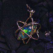 Украшения handmade. Livemaster - original item Orbit pendant with Opal in gold. Handmade.