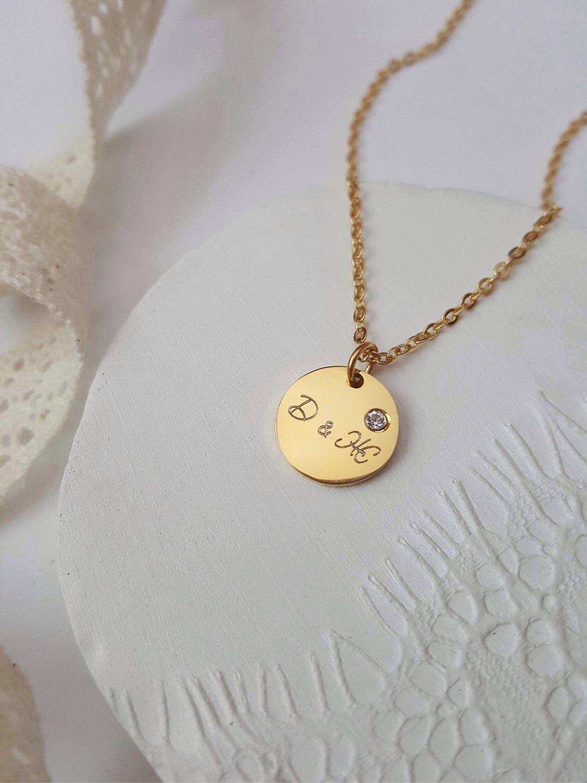 Позолоченный медальон с вашей надписью - гравировка, Медальон, Ниш,  Фото №1