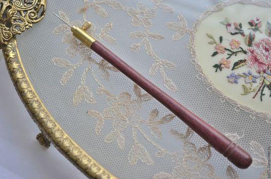 Вышивка ручной работы. Ярмарка Мастеров - ручная работа. Купить Люневильский Крючок (комплект ручка+ 3 иглы 70,80,90). Handmade.