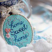 Для дома и интерьера ручной работы. Ярмарка Мастеров - ручная работа Интерьерная подвеска, вышивка в пяльцах.. Handmade.