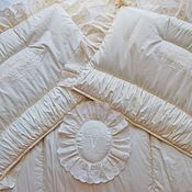 Детское одеяло ручной работы. Ярмарка Мастеров - ручная работа Комплект постельного белья в детскую кроватку в стиле шебби шик. Handmade.