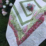 Для дома и интерьера handmade. Livemaster - original item Patchwork Quilted Patchwork Bedspread Summer Garden. Handmade.