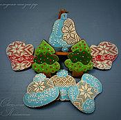 Подарки к праздникам ручной работы. Ярмарка Мастеров - ручная работа Новогодние и рождественские пряники. Handmade.