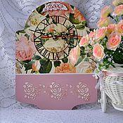 """Для дома и интерьера ручной работы. Ярмарка Мастеров - ручная работа Часы """"Розовый зефир"""". Handmade."""