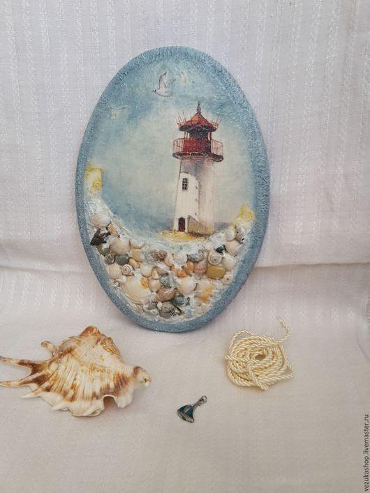 Пейзаж ручной работы. Ярмарка Мастеров - ручная работа. Купить Панно в морском стиле. Handmade. Панно настенное, панно в детскую