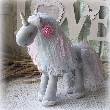 Dolls & toys handmade. Livemaster - original item One unicorn`s textile Soft. Handmade.