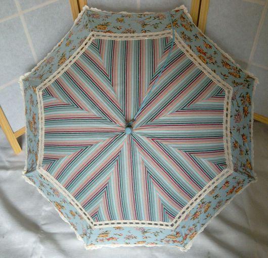 """Зонты ручной работы. Ярмарка Мастеров - ручная работа. Купить Зонт от солнца  """"Вечерний сад"""". Handmade. Зонт от солнца, хлопок"""