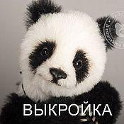 Материалы для творчества ручной работы. Ярмарка Мастеров - ручная работа Выкройка панда Алиса. Handmade.