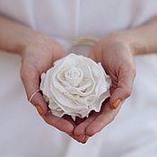 Украшения handmade. Livemaster - original item White rose. Felt brooch. Handmade.