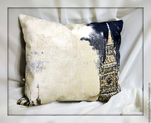 Текстиль, ковры ручной работы. Ярмарка Мастеров - ручная работа. Купить Лондон Диванная подушка в машину Бик Бен Big Ben Подарок мужчине. Handmade.