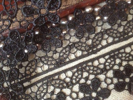 Шитье ручной работы. Ярмарка Мастеров - ручная работа. Купить Кружево макраме черное 3,5 см (52). Handmade.