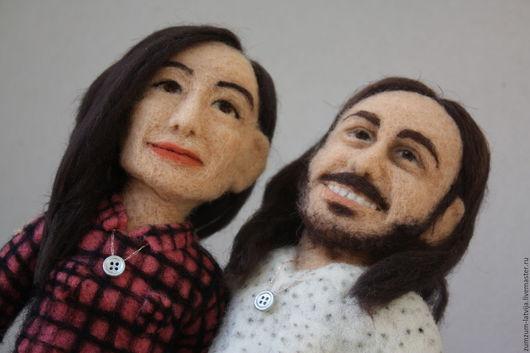 Портретные куклы ручной работы. Ярмарка Мастеров - ручная работа. Купить Портретные куклы Акико и Юлиан. Handmade. Белый, друзьям