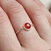 Украшения handmade. Livemaster - original item Silver ring with carnelian. Handmade.
