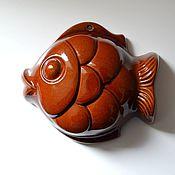"""Керамическая форма """"Рыба"""", винтаж, Германия"""