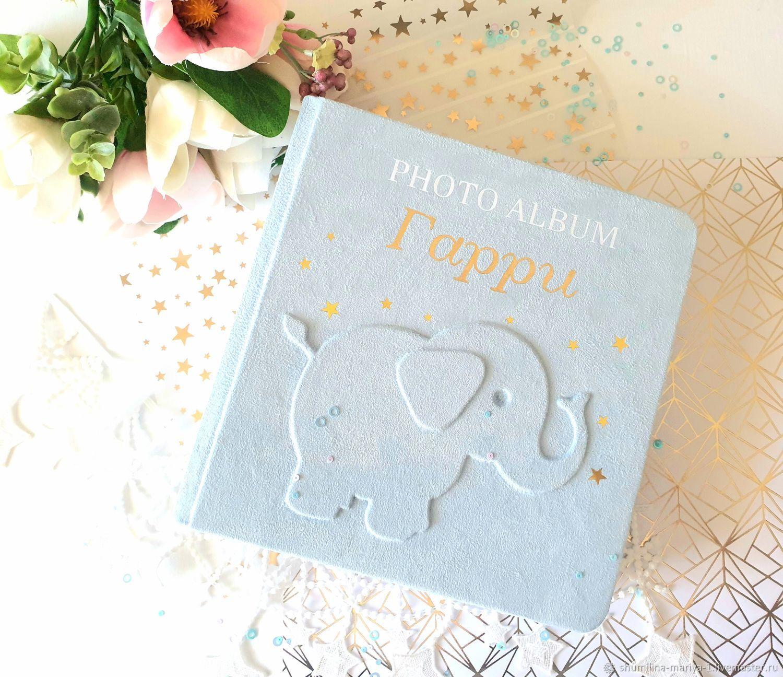 Подарок новорожденному: фотоальбом для мальчика, Фотоальбомы, Москва,  Фото №1