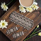 """Украшения ручной работы. Ярмарка Мастеров - ручная работа Комплект """"Кофе с молоком"""". Handmade."""