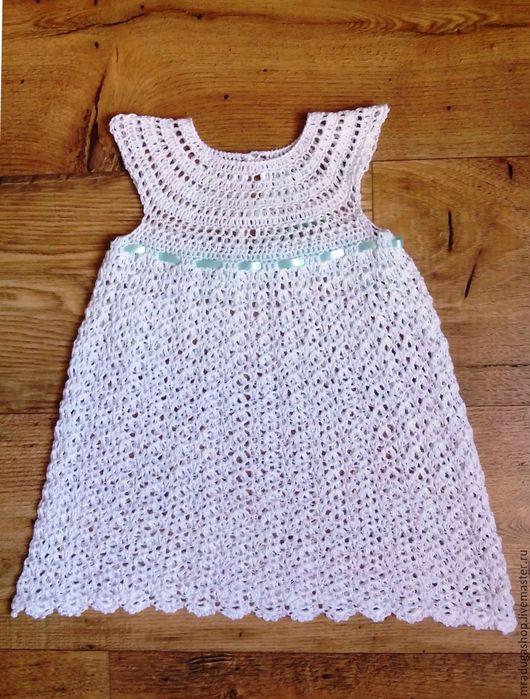 """Одежда для девочек, ручной работы. Ярмарка Мастеров - ручная работа. Купить Платье для девочки """"Воздушное"""". Handmade. Белый, ажурный узор"""