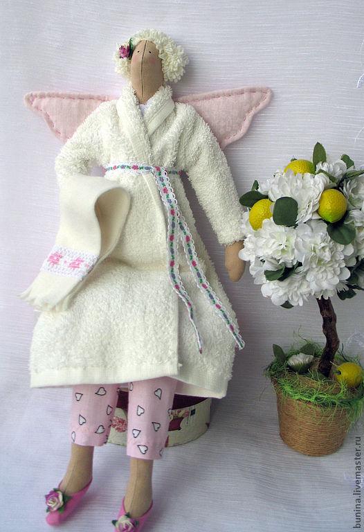 Куклы Тильды ручной работы. Ярмарка Мастеров - ручная работа. Купить Банная фея в белом. Handmade. Банная фея