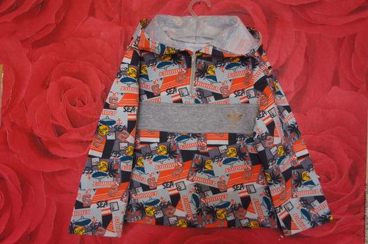 Одежда для мальчиков, ручной работы. Ярмарка Мастеров - ручная работа. Купить Толстовка для мальчика. Handmade. Комбинированный, свитшот, удобная одежда