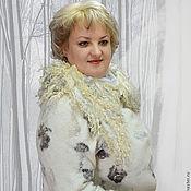 """Одежда ручной работы. Ярмарка Мастеров - ручная работа пальто """"Снег и пепел"""". Handmade."""