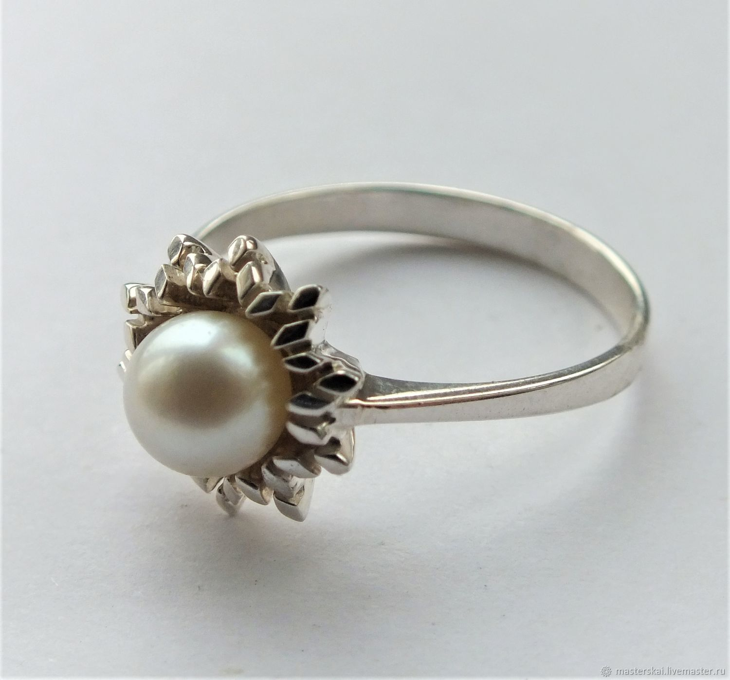 Ring 'Normina' - natural pearls, 925 silver, Rings, Moscow,  Фото №1