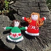 Куклы и игрушки ручной работы. Ярмарка Мастеров - ручная работа Вязаные куклы-малютки. Handmade.