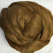 Wool handmade. Livemaster - original item Alpaca (Alpaka) Wool for felting.Walnut. Germany. Handmade.
