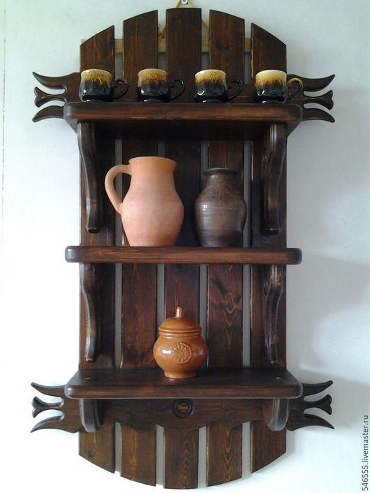 Экстерьер и дача ручной работы. Ярмарка Мастеров - ручная работа. Купить Полка на стену. Handmade. Мебель деревянная, мебель для бани
