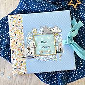 Подарки к праздникам ручной работы. Ярмарка Мастеров - ручная работа Фотоальбом именной для малыша от рождения до года. Handmade.