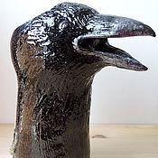 Для дома и интерьера ручной работы. Ярмарка Мастеров - ручная работа Черный Ворон (ваза керамическая). Handmade.