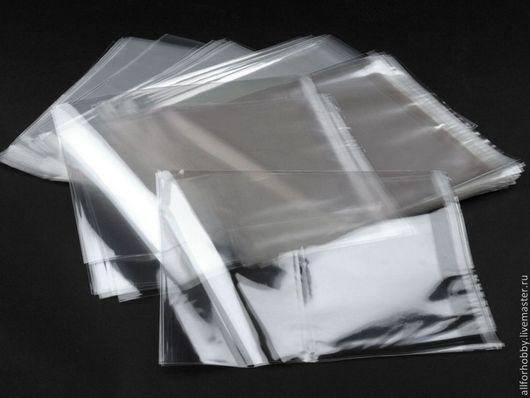 Упаковка ручной работы. Ярмарка Мастеров - ручная работа. Купить Пакетики полипропиленовые 20х20 см с клейкой лентой. Handmade. Прозрачный
