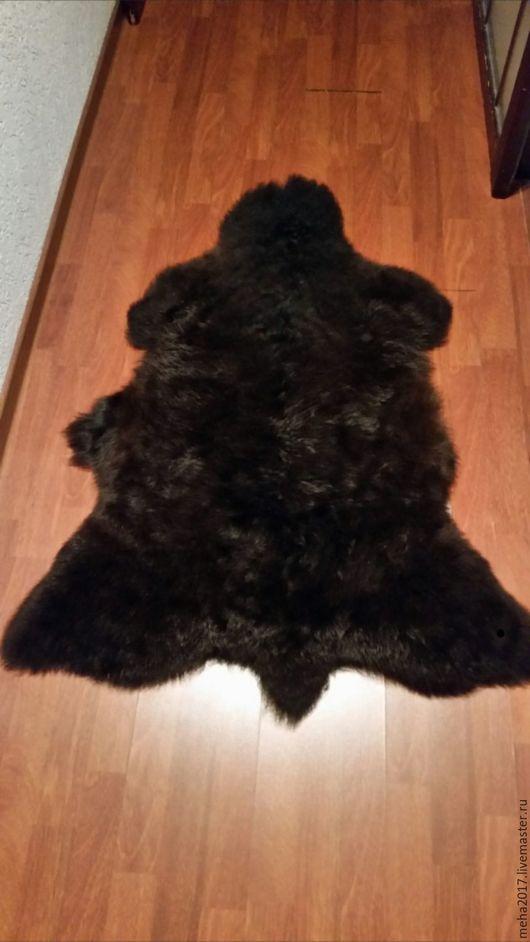 Текстиль, ковры ручной работы. Ярмарка Мастеров - ручная работа. Купить Шкура овечья черная некрашенная. Handmade. Черный