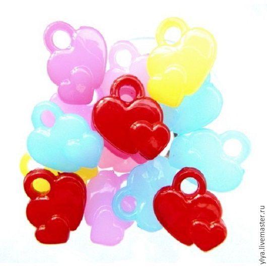 """Куклы и игрушки ручной работы. Ярмарка Мастеров - ручная работа. Купить Подвеска """"Два сердца"""".. Handmade. Комбинированный, подвеска"""