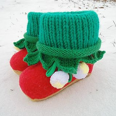 Обувь ручной работы. Ярмарка Мастеров - ручная работа Валенки-пинетки Ягодки. Handmade.