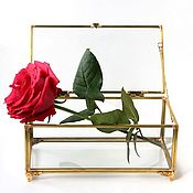 Для дома и интерьера handmade. Livemaster - original item Box. Glass casket. Golden jewelry box. Handmade.