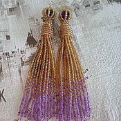 Украшения handmade. Livemaster - original item Earrings-brush-beaded, earrings Jasmine earrings Cleopatra. Handmade.