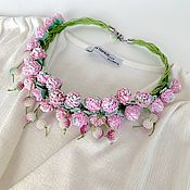 Украшения handmade. Livemaster - original item Necklace: Delicate clover. Handmade.