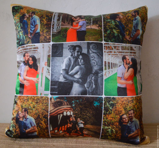 Текстиль, ковры ручной работы. Ярмарка Мастеров - ручная работа. Купить Фото на подушке подарок на день всех влюбленных подарок на 8 марта. Handmade.
