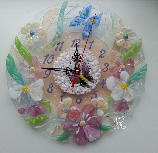 """Часы для дома ручной работы. Ярмарка Мастеров - ручная работа. Купить Часы """" Нежность"""". Handmade. Часы настенные"""