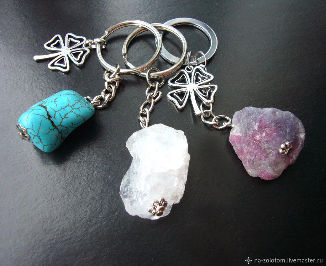 Мужские брелки на ключи с камнями. Брелки-обереги. Брелки-талисманы