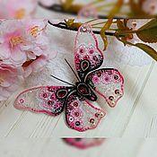 """Украшения ручной работы. Ярмарка Мастеров - ручная работа Брошь-бабочка """"Яблоневый цвет"""". Handmade."""