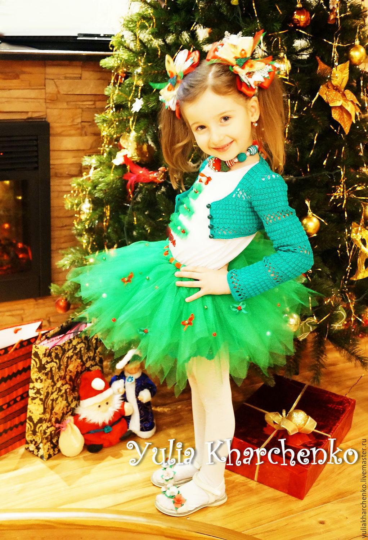 Детские белые вязаные болеро для новогоднего платья