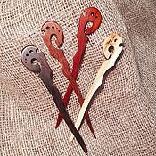 Украшения handmade. Livemaster - original item Two oval hair stick made of wood. Handmade.