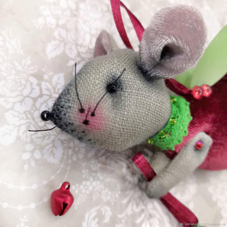 Мышь (ангел) новогодняя, Мягкие игрушки, Кемерово,  Фото №1