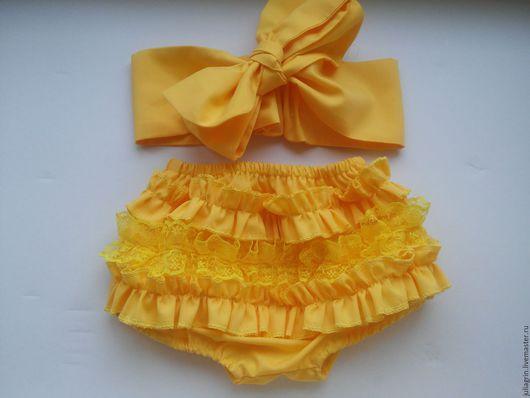 Одежда для девочек, ручной работы. Ярмарка Мастеров - ручная работа. Купить Детские блумеры. Handmade. Блумеры, бант, новогодний комплект