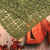 Аксессуары ручной работы. Ярмарка Мастеров - ручная работа Треугольная шаль. Handmade.
