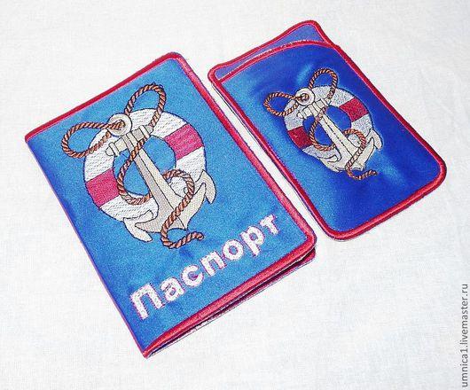 """Обложки ручной работы. Ярмарка Мастеров - ручная работа. Купить Обложка на паспорт """"Хочу на море!!!"""". Handmade. Тёмно-синий"""