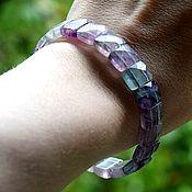 handmade. Livemaster - original item Bracelet made of natural fluorite with cut. Handmade.